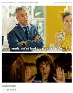 That's why sherlock corrected him. We are obviously looking for a hobbit, not a dwarf! Duh, Lestrade!