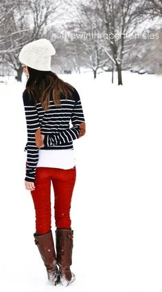 winter stripes & red {The Winthrop Chronicles}