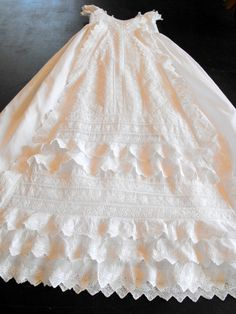 Vintage+Victorian+Christening+Gown+English+by+Vintagefrenchlinens,+$325.00