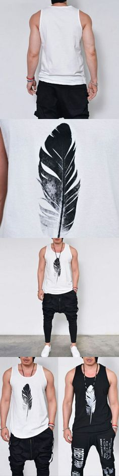 Men's Muscle Sleeveless Tee Shirt Tank Top Bodybuilding Casual O-Neck Male Vest