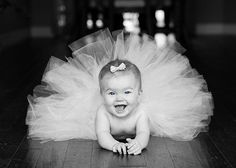 Pose for six month pictures (tutu), year ideas/pictures are behind this!