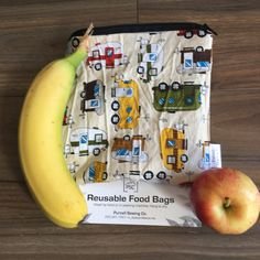 Camping Trailer Reusable Washable Lined Zippered Food Bag Sandwich Size by PurcellSewingCo on Etsy Feminine Hygiene, Reusable Bags, Fruits And Veggies, Safe Food, Lunch Box, Camping, Etsy, Fruits And Vegetables, Campsite