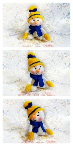 Amigurumi Small Snowman Free Pattern – Amigurumi Free Patterns And Tutorials Crochet Dolls Free Patterns, Christmas Crochet Patterns, Crochet Toys, Free Crochet, Knitted Blankets, Amigurumi Doll, Single Crochet, Hello Dear, Snowman