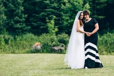Bride and mother in city-meets-country setting