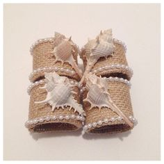 Napkin rings nautical napkin rings seashell by FunWithWreaths