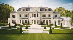 ✔ 68 best house exterior design that you can check 48 Related Luxury Homes Exterior, Luxury Homes Dream Houses, Luxury House Plans, Dream House Exterior, Exterior Design, Big Houses Exterior, Luxury Life, Style At Home, George Hill