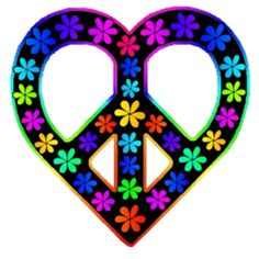 hearts hearts pinterest peace hippie art and trippy rh pinterest com Hearts and Peace Signs Colorful Peace Signs