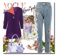 """Fashion Look - Rosegal.com 80"" by bebushkaj ❤ liked on Polyvore"