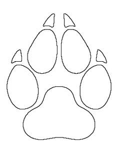 Free Paw Print Patterns for Crafts, Stencils, and Applique Patterns, Beading Patterns, Quilt Patterns, Freetime Activities, Wolf Paw Print, Wolf Craft, Pintura Country, Dog Tattoos, Print Templates