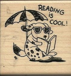 "Maryann Cocca ""Reading Is Cool"" Kidstamps Rubber Stamp Maryann Cocca"