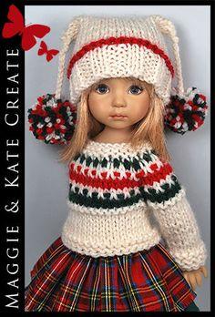 "* рождество * зимний наряд для little darlings effner 13"" by maggie & kate создают"