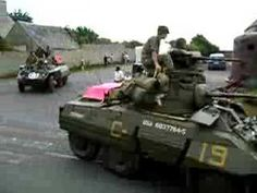 M3 Halftracks, M8 Greyhounds, Willy's Jeeps and motorcycles - YouTube