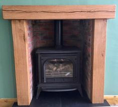 FIRE PLACE SURROUND - x thick oak mantle - range of colours & sizes- nationwide delivery - made to measure Oak Furniture, Oak Mantle, Oak, Fireplace Surrounds, Floating Mantle, Oak Fire Surround, Fireplace, French Oak, Oak Shelves