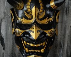 Samurai Assassin Demon Oni BB Gun Airsoft Mask Halloween Costume Cosplay Ninja Warrior Devil Evil Hannya Kabuki Home Decor Wall Mask Goggle Ideas of Goggle - Goggle - Ideas of Goggle Hannya Maske Tattoo, Oni Mask Tattoo, Oni Samurai, Samurai Warrior, Ninja Warrior, Ninja Rpg, Oni Maske, Japanese Oni Mask, Maske Halloween