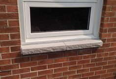 Brick to Stone: Window Sill Replacement - Ottawa Case study. rocked window sill, limestone sill, masonry techniques and services. Diy Exterior, Exterior House Colors, Doors And Floors, Windows And Doors, Exterior Window Sill, Window Sill Replacement, Window Ledge, Front Door Colors, Stone Slab