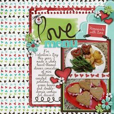 Love Menu - Scrapbook.com