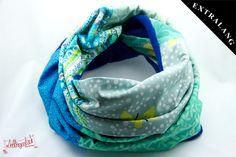 Patchwork-Schal blau ... kuschelig warm von #Lieblingsmanufaktur