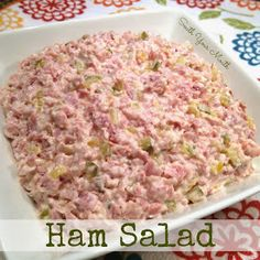 Pork Ham Salad {Oh LAWW! Give me some townhouse crackers and a bowl of this and you won't hear a word out of me for hours! Ham Salad Recipes, Sandwich Recipes, Pork Recipes, Cooking Recipes, Pork Meals, Fast Meals, Sandwich Ideas, Keto Recipes, Sauces