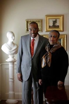 Dr. Harmon and Harriet Kelley, major collectors of African American Art since the mid-1980's