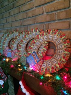 Christmas instant lottery ticket wreath