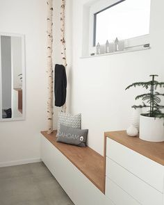 The IKEA Kallax series Storage furniture is an essential element of any home. They supply buy and assist you to keep track. Trendy and wonderfully easy the ledge Kallax from Ikea , for example. Bedroom Storage, Bedroom Decor, Home Interior Design, Home And Living, Sweet Home, Entryway, House Design, Furniture, Home Decor