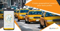 The Yelowsoft taxi dispatch system comes with a special feature called geographical zones. This feature allows you to define special zones to take the of busy areas and to gain Driver App, Taxi App, App Development, Gain, Management, Business, Store, Business Illustration
