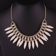 New Fashion Womens Jewelry Bib Crystal Pendant Collar Chain Statement Necklace Crystal Pendant, Pendant Jewelry, Pendant Necklace, Stone Necklace, Beaded Necklace, Necklace Chain, Collar Chain, Neck Accessories, The Ordinary