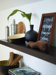 Black and bamboo VINÄGER bowl