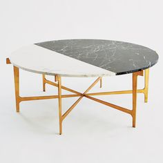 Maxwell Cocktail Table-Gold Leaf