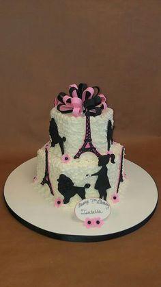 Cute Paris themed cake
