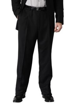 Geoffrey Beene Black Slim Fit Suit Separate Pleated Pants
