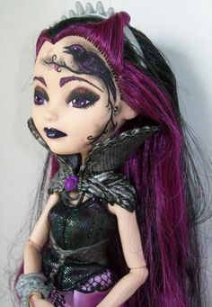 Raven Queen Ever After Custom Doll 2 by AdeCiroDesigns on DeviantArt