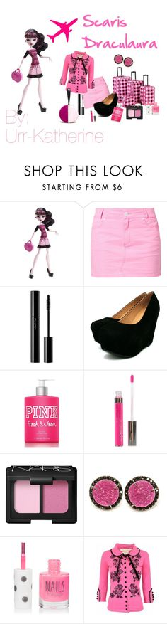 """""""Scaris Draculaura"""" by urr-katherine ❤ liked on Polyvore featuring TWINTIP, shu uemura, Victoria's Secret, Maybelline, NARS Cosmetics, Kimberly McDonald, Topshop, Wheels & Dollbaby and Diane Von Furstenberg"""