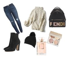 everyday look by efsi on Polyvore featuring polyvore fashion style Caslon Fendi Wilsons Leather Chanel clothing