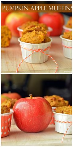 Pumpkin apple muffins - with real apples. http://www.superhealthykids.com/pumpkin-apple-muffin-recipe-for-kids/
