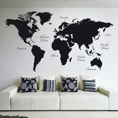5 pcs modern abstract wall art painting world map canvas painting world map wall decal gumiabroncs Images