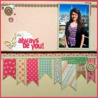 Love the ribbon border.  Gallery Projects - Two Peas in a Bucket