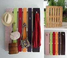 Very cute -- I'm thinking of modifying this and using it in my greenhouse this summer. :)     DIY pallet coat rack