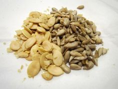 February 6 2013  Snack for today = organic sunflower seeds + organic pumpkin seeds (superfood) #eatclean