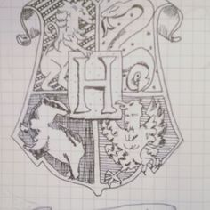 The first page of April in my BuJo Coat of arms of Hogwarts School of Witchcraft and Wizardry  I am a Ravenclaw <3