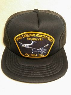 Hats · New Vintage Royal Canadian Mounted Police Air services Hat Cap   fashion  clothing  shoes 55098b906b6