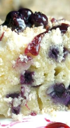 Blueberry and Cream Cheese Coffee Cake- this was so good even without the blueberry sauce on top.