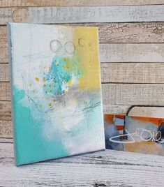 Serene Abstract in soft colors Hidden Secrets by | Etsy by Jodi Ohl#abstract #abstractart #smallart #acrylicpainting #jodiohl Small Art, Soft Colors, Note Cards, Serenity, The Secret, Abstract Art, Artsy, Texture, Canvas