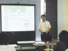 中野徹さん講義中 Facebookページに関して・・・ http://kumahachi.me/seminar/post-1053