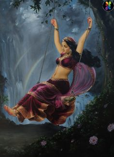 I can wait for your love krishna . till the next life also Indian Women Painting, Indian Art Paintings, Ravivarma Paintings, Indian Artwork, Abstract Paintings, Sexy Painting, Woman Painting, Painting Tips, Painting Art