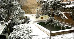 Snowing in Alhambra Granada