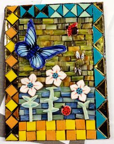 No Days Mosaic using Groutless Mosaic Adhesive, Spectrum Glass, wedi board and Santa Theresa Tileworks Theme Pack and Skinny Tile Wedi Board, Spectrum Glass, Adhesive, Mosaic, Tile, Santa, Skinny, Day, Creative