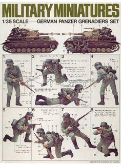 Tamiya 1:35 Military Miniatures: German Panzer Grenadiers Set / Dt. Panzergrenadiere