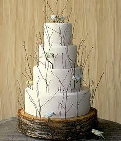 Martha Stewart DIY Bird Wedding cake