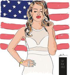 Lana del Rey by CLAUDIA SCHEMBARI, via Behance